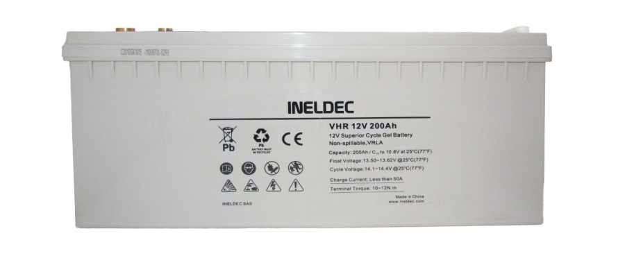 Batería de gel 200 amp Ah 12V agm solar
