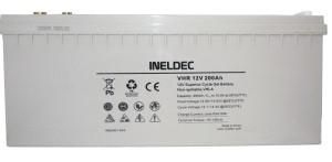 Batería Solar 200 Ah AMP GEL AGM Para paneles solares ineldec seca 44