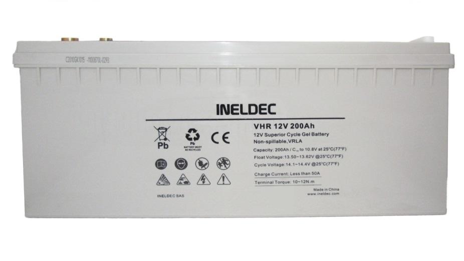 Baterías solares de GEL 200Ah para paneles solares AGM