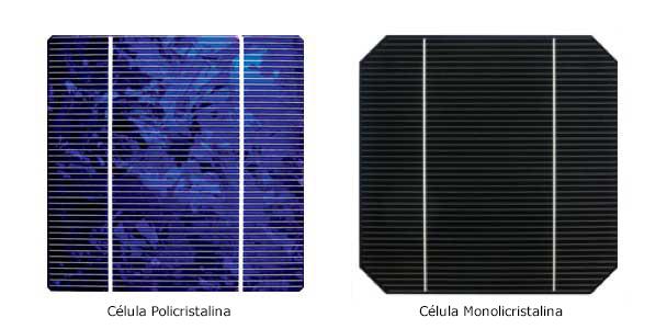 Paneles solares monocristalinos policristalinos