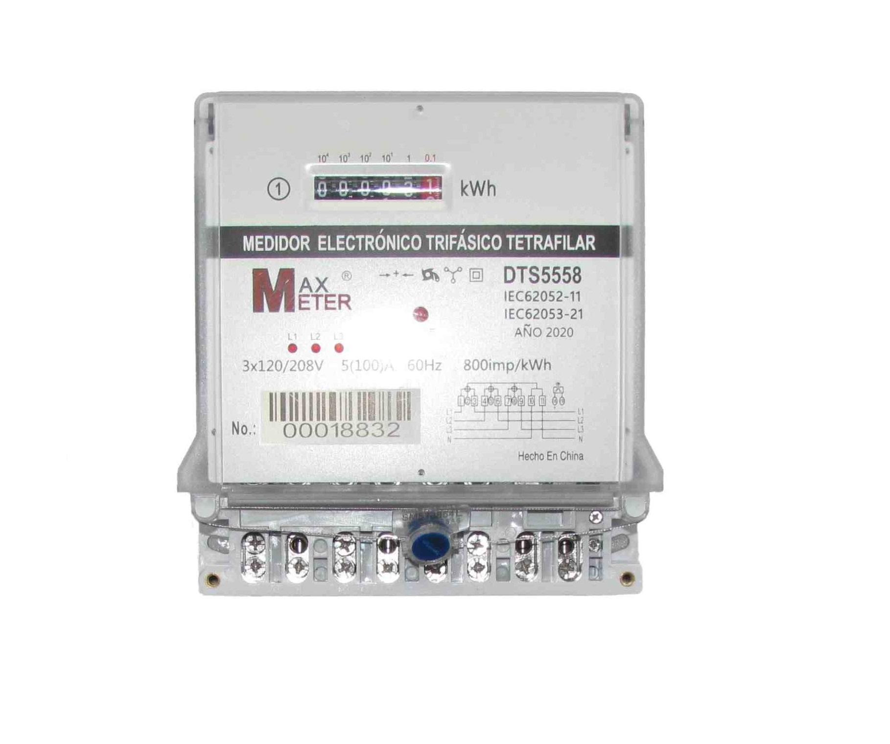Medidor trifásico contador trifásico Max Meter