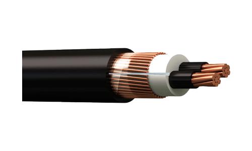 Cable concentrico 2×6 + 6 AWG CU 600V XLPE